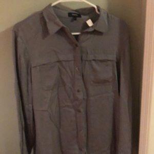Theory silk blouse, L